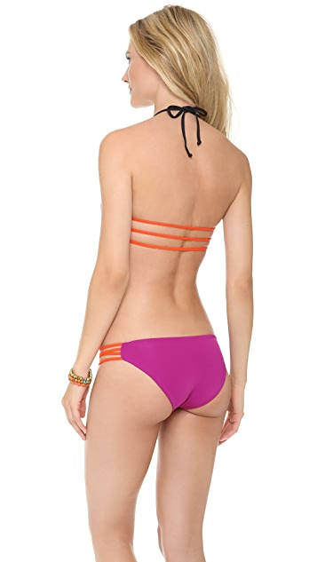 L*Space Colorblock Strap Reversible Bikini Top