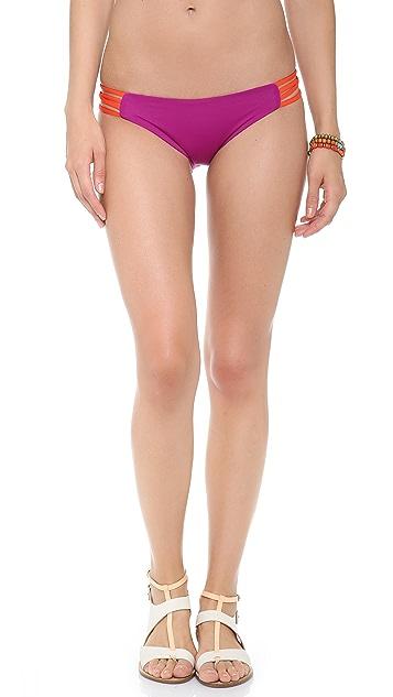 L*Space Colorblock Low Down Reversible Bikini Bottoms