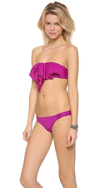 L*Space Flutterbye Hunter Rose Bikini Top