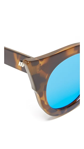 Le Specs Flashy Flat Lens Mirrored Sunglasses