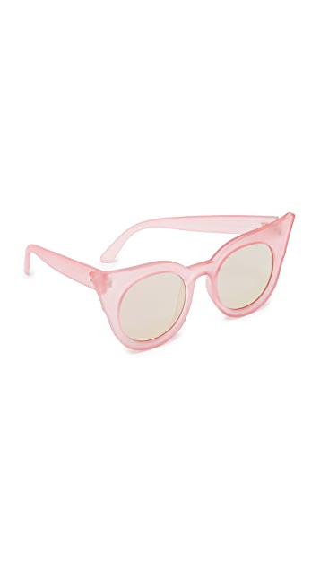 Le Specs Flashy Flat Lense Mirrored Sunglasses