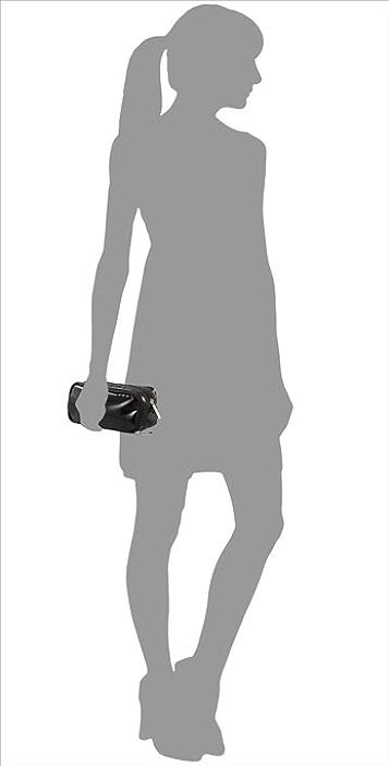 LeSportsac Black Patent Kevyn Cosmetic Bag