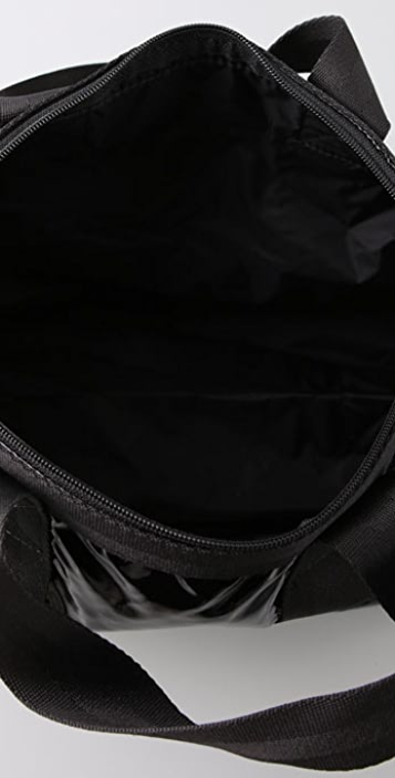 LeSportsac Black Patent Small Weekender
