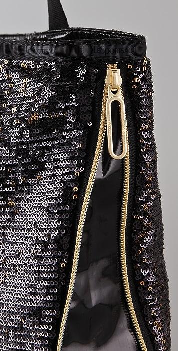 LeSportsac Platinum Sherry Zipper Tote