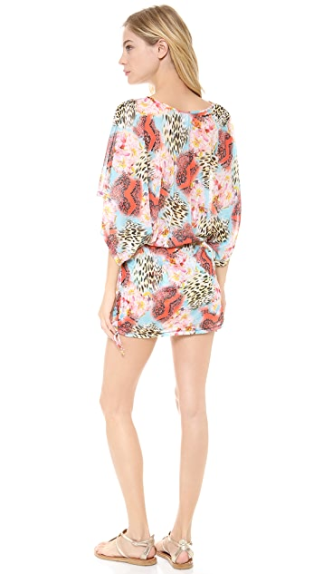 Luli Fama Isla Bonita Cabana V Neck Dress