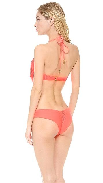 Luli Fama Cosita Buena Fringe Plunge Bikini Top