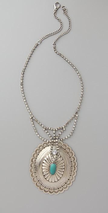 Vintage Deco Concho Necklace