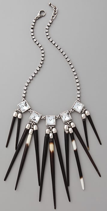 Lulu Frost Short Crystal Quill Necklace