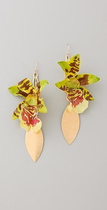 Lulu Frost Orchid Earrings