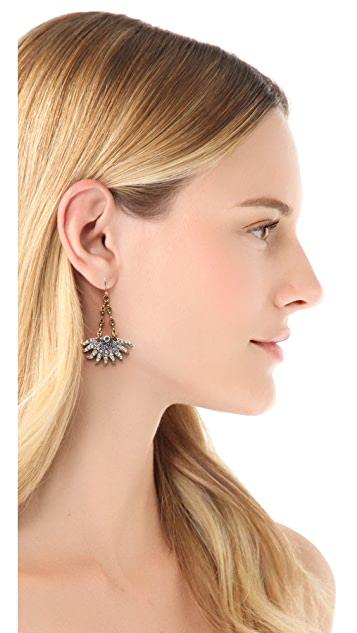 Lulu Frost Sunburst Drop Earrings