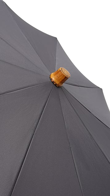 London Undercover Telescopic Umbrella with Whangee Handle