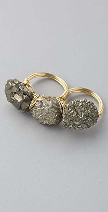 Luv Aj Fool's Gold Knuckle Buster Ring