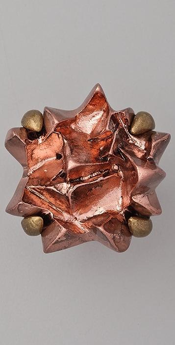 Luv Aj Crystal Chunk Cocktail Ring