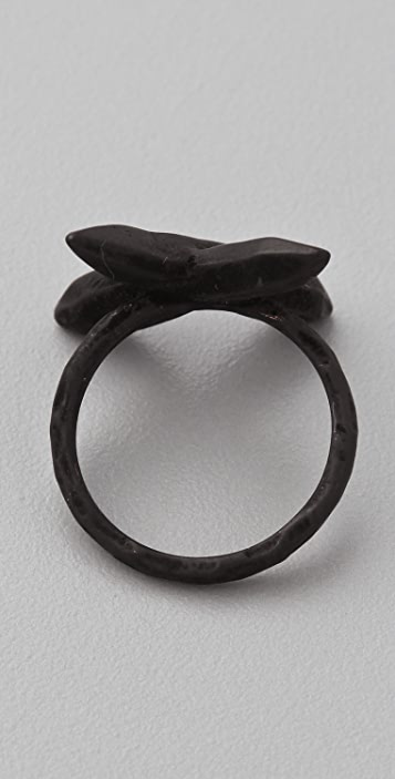 Luv Aj Crystal Cross Ring