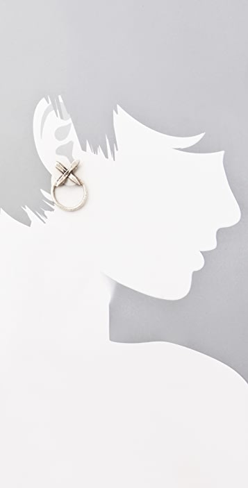 Luv Aj Crystal Cross Statement Earrings