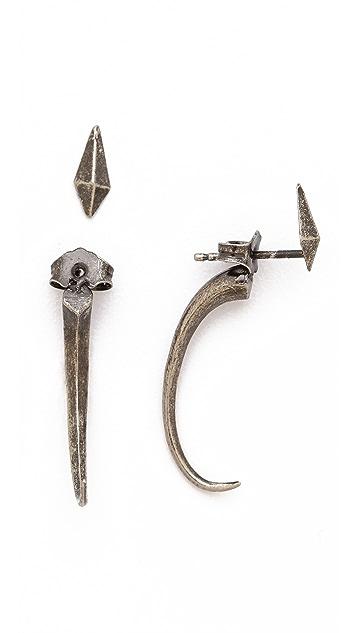 Luv Aj The Mini Tusk Earrings
