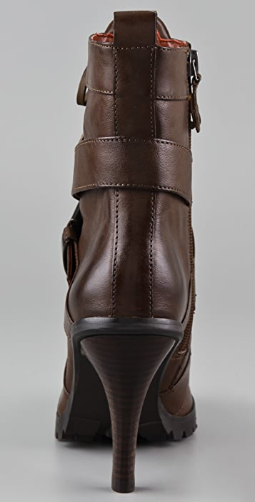 Luxury Rebel Shoes Nora Lace Up Booties