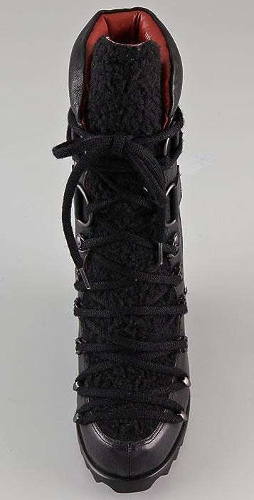 Luxury Rebel Shoes Trenton Wedge Booties