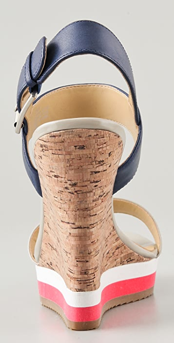 Luxury Rebel Shoes Dani Colorblock Wedge Sandals