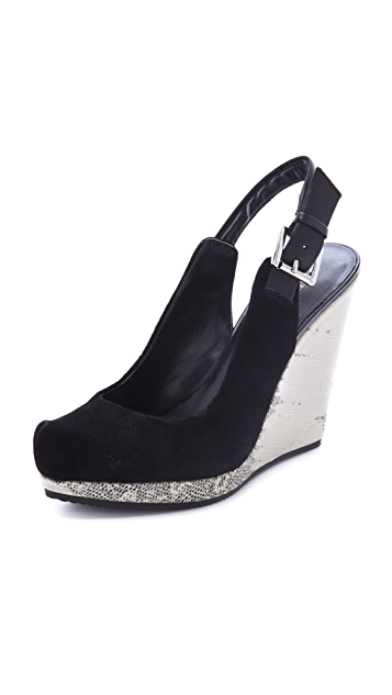 Luxury Rebel Shoes Sibil Wedge Pumps