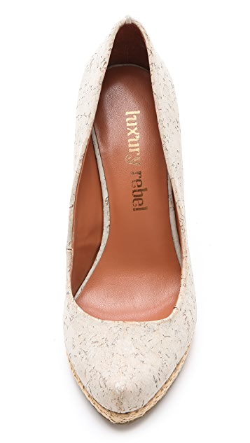 Luxury Rebel Shoes Syri Cork Wedges