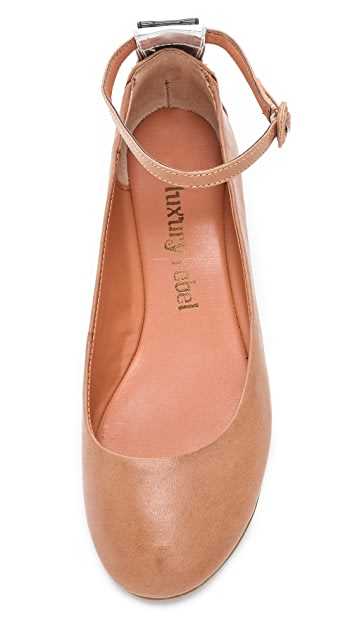 Luxury Rebel Shoes Baxter Ankle Strap Flats