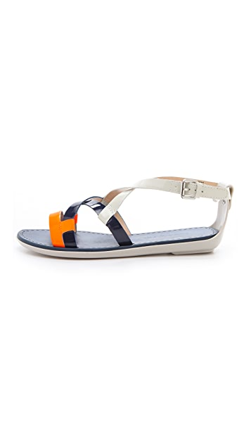 Luxury Rebel Shoes Swing Colorblock Flat Sandals