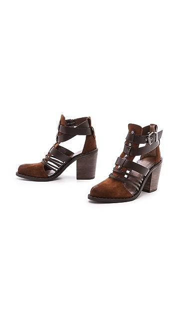 Luxury Rebel Shoes Mandy Suede Fisherman Booties