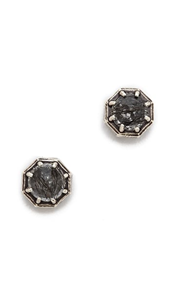 Lauren Wolf Jewelry Rutliated Quartz Stud Earrings