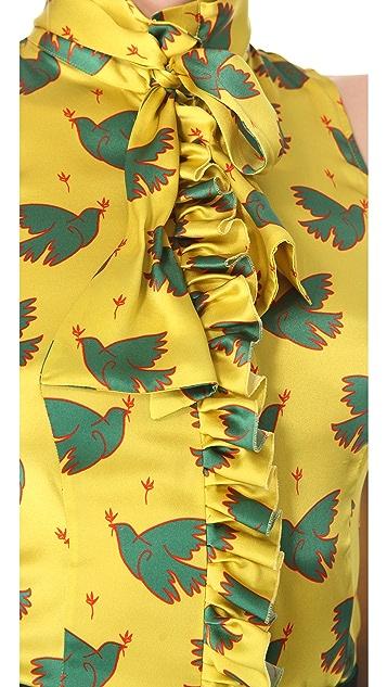 L'Wren Scott Peace & Love Tie Blouse