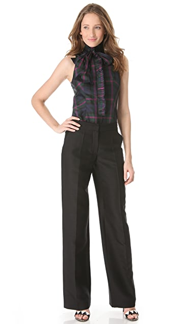 L'Wren Scott Wide Leg Pants with Front Zip