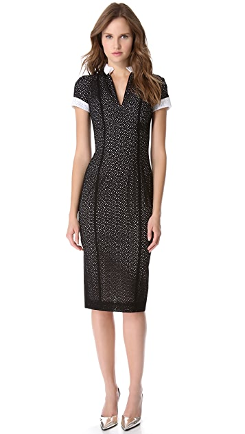L'Wren Scott Short Sleeve Lace Dress