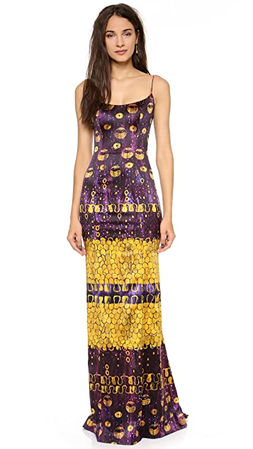 L'Wren Scott Sleeveless Multicolored Gown