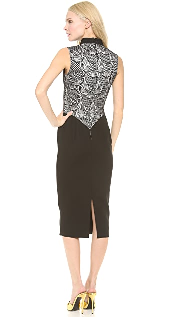 L'Wren Scott Lace Panel Sheath Dress