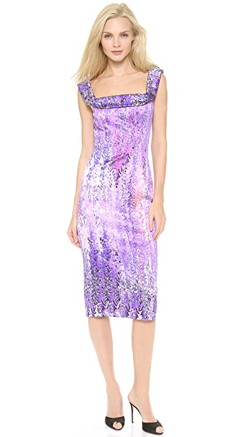 L'Wren Scott Fold Over Neckline Dress