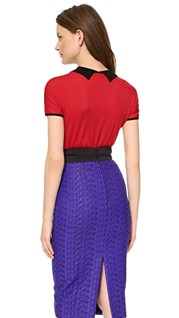 L'Wren Scott Short Sleeve Sweater