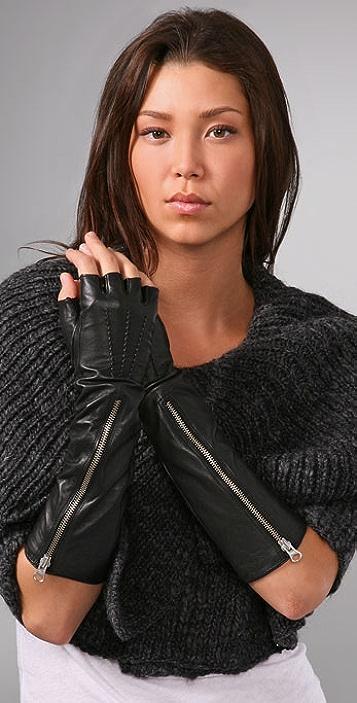 Mackage Katrine Fingerless Leather Gloves