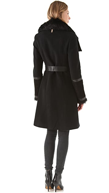 Mackage Side Zip Coat with Tie