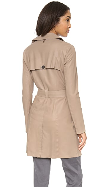 Mackage Olesya Leather Trench Coat