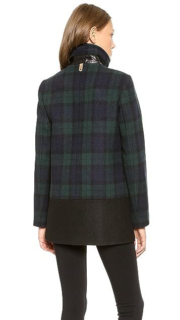 Mackage Berta Plaid Wool Coat