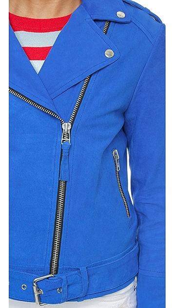 Mackage Замшевая байкерская куртка Flori