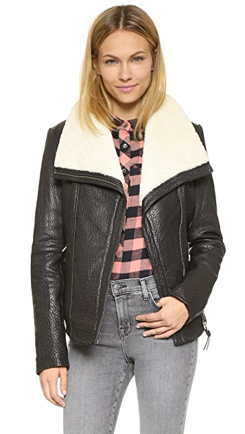 Mackage Cicely Shearling Leather Jacket