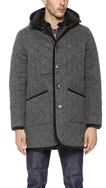 Mackintosh Waverly Quilted Herringbone Coat