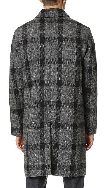 Mackintosh Harris Tweed Windowpane Check Coat