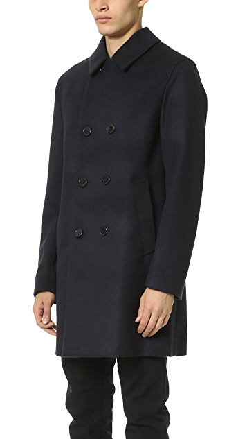 Mackintosh Blunt Edge Double Breasted Coat