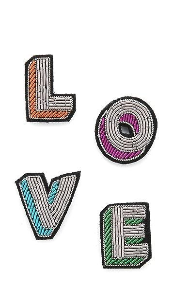 Macon & Lesquoy Love Pin Set