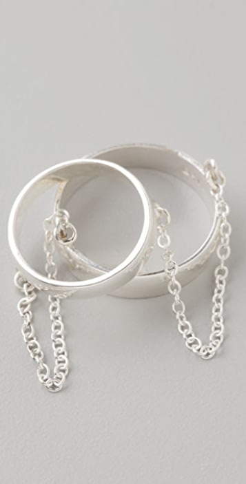 Made Her Think Double Band Chain Ring