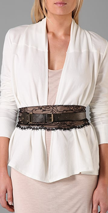 Made Her Think Leather and Lace Belt