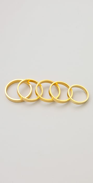 Made Her Think Flat 5 Ring Set