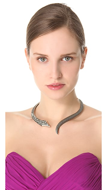 Made Her Think Open Serpent Collar Necklace